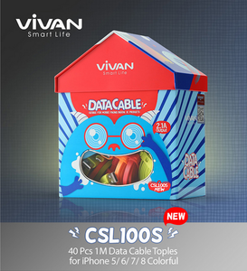 VIVAN CSL100S Lighting cable 2.4A 1m (40pcs, Box packed)