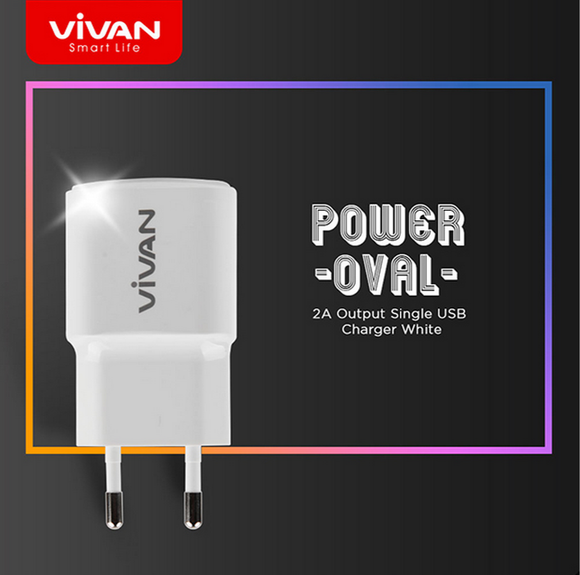 VIVAN Power Oval Travel charger 2A