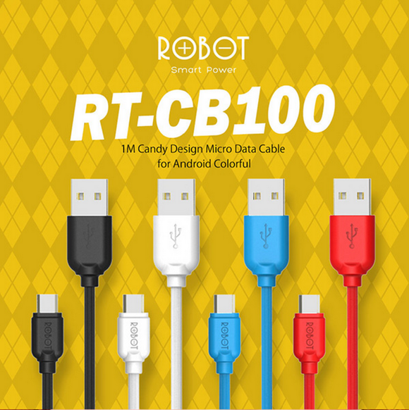 ROBOT RT-CB100 Micro USB cable 2.1A 1m (40pcs, Candy packed)