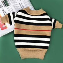 Load image into Gallery viewer, Dog Classic Stripe Cardigan Sweater