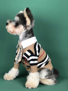 Dog Classic Stripe Cardigan Sweater