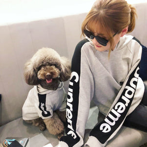 Pet Superme Grey with Black Sweater