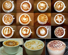 Load image into Gallery viewer, Coffee Barista Art Stencils