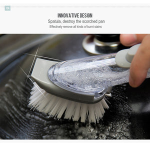 Kitchen Cleaning Brush Plus Liquid Stainless Steel