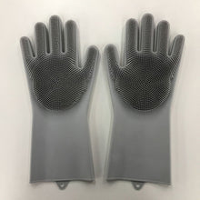 Load image into Gallery viewer, Magic Silicone Rubber Dish Wash Gloves