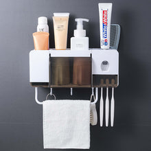 Load image into Gallery viewer, Wall Mount Dust-proof Toothbrush Holder(Automatic Toothpaste Squeezer Dispenser)