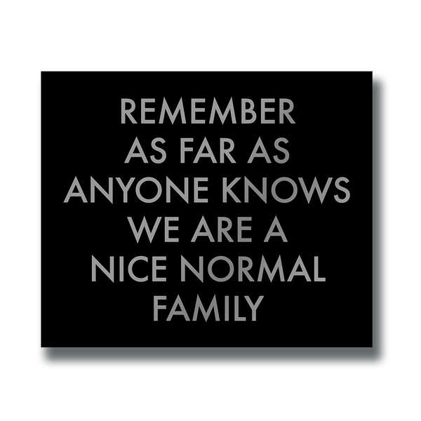 Nice Normal Family Wall Plaque