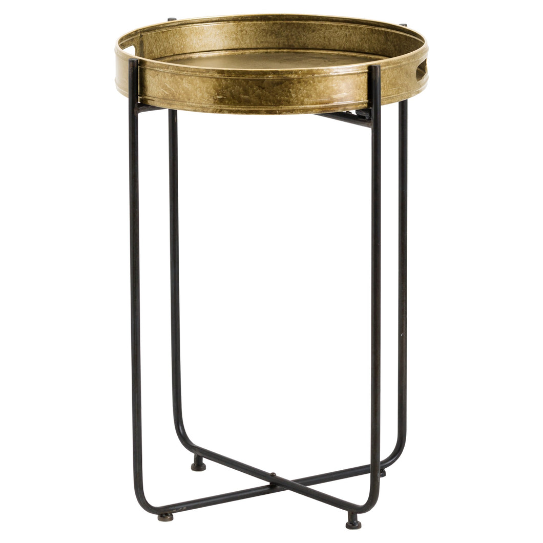 Antique Gold Round Side Table