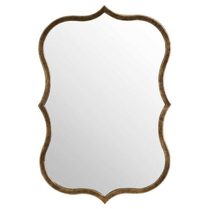 Antique Bronze Curved Mirror