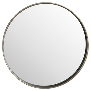 Large Bronze Round Wall Mirror