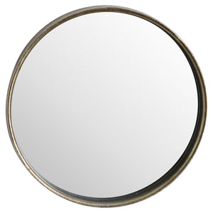 Small Bronze Round Wall Mirror