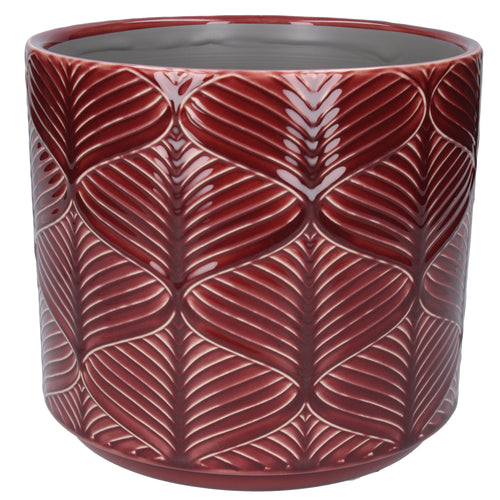 Berry Wavy Ceramic Plant Pot Large