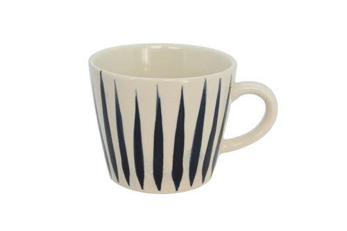 Gisela Graham Navy Flame Ceramic Mug