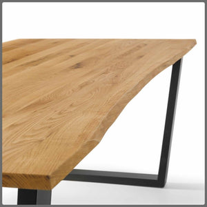 Industrial Style Oak Dining Table 180cm