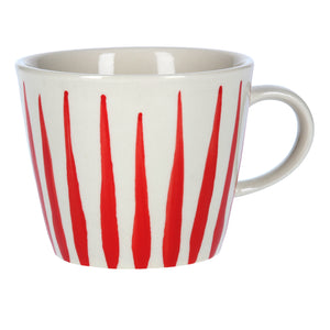 Gisela Graham Red Flame Ceramic Mug