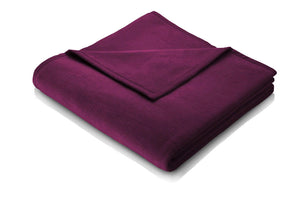 Burgundy Plain Throw