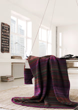 Burgundy Multi Stripe Throw