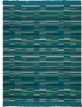 Teal Tiled Throw