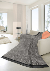 Grey Polygon Throw