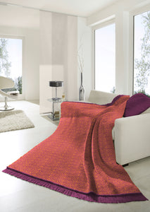 Burgundy Polygon Throw