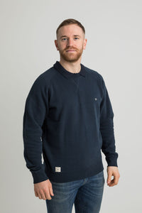 Callum Crew Neck Navy Mens Sweat Shirt