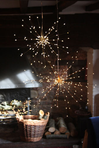 Copper Starburst Lights Large