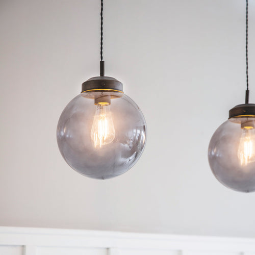 Dulwich Double Pendant Light Smoke