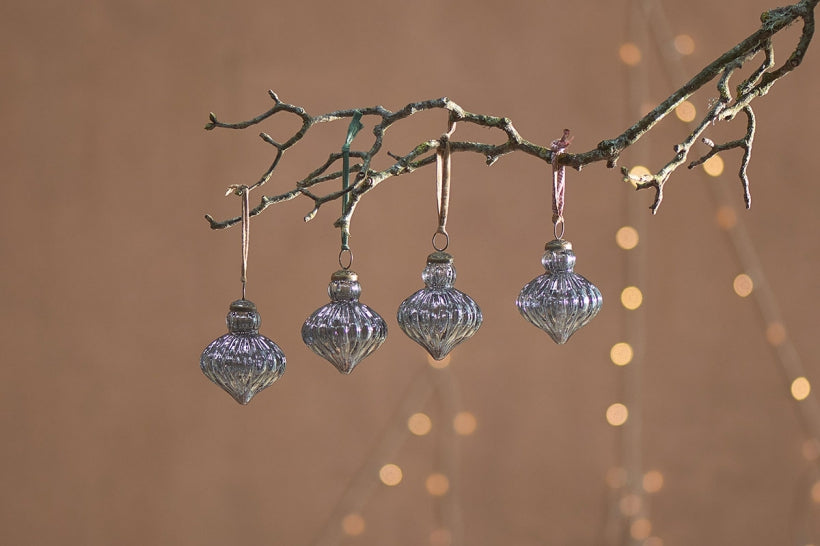 Eliza Baubles Grey Luster Set of 4