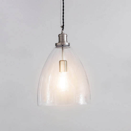 Hoxton Bullet Pendant light Satin Nickel