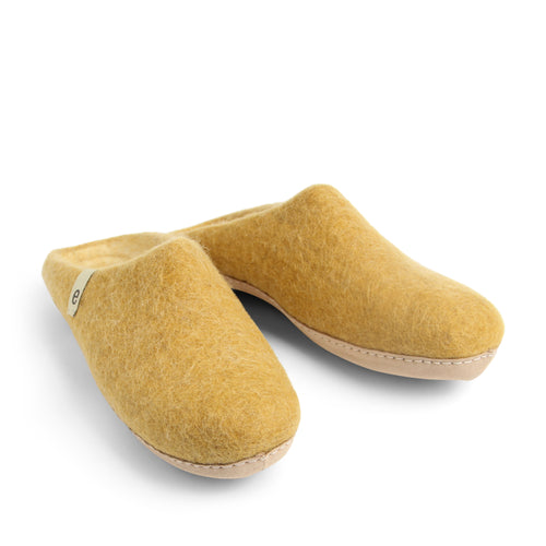 Egos Felted Wool Slippers Mustard