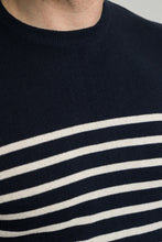 Reg Navy & Ecru Regenerated Breton Mens Jumper