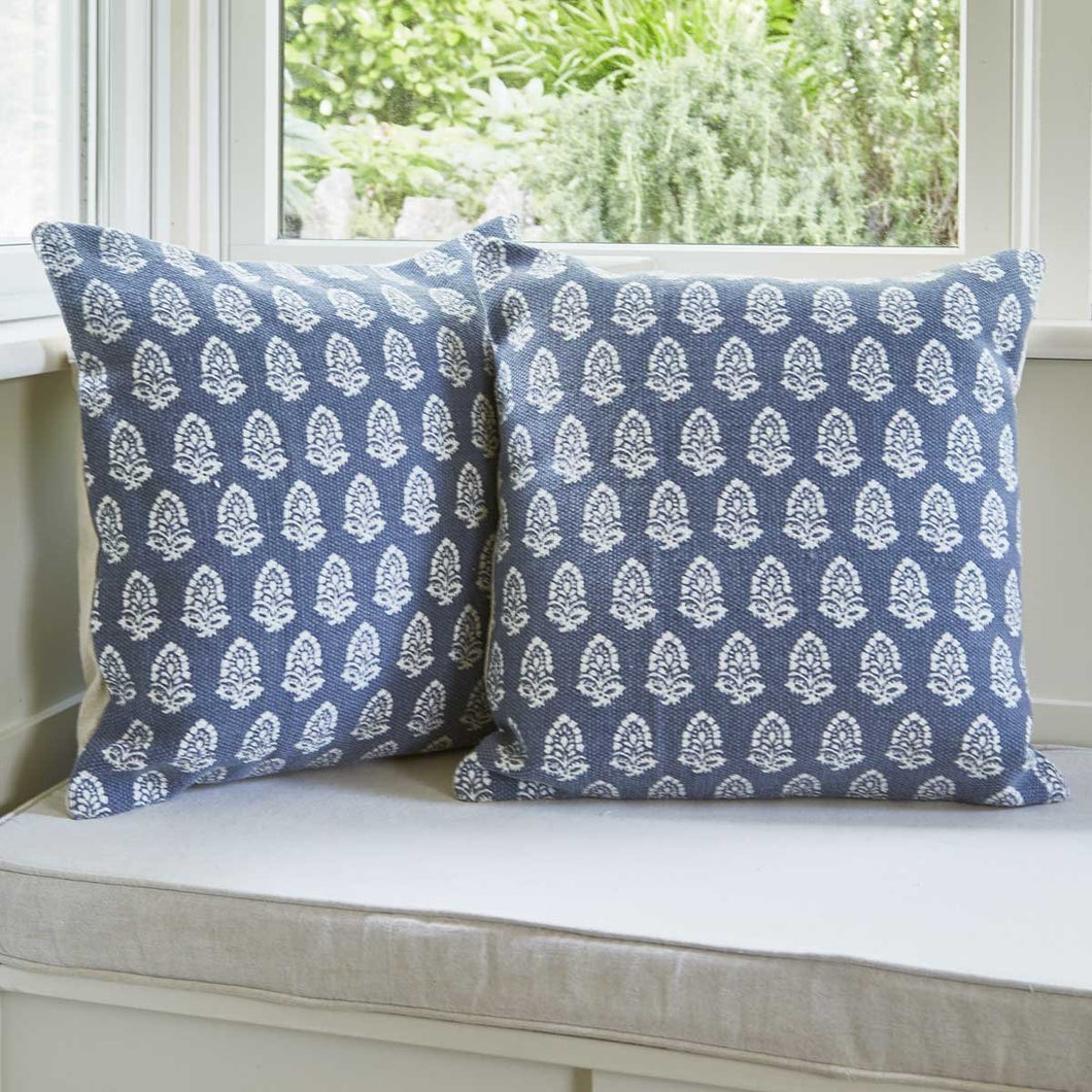 Weaver Green Jaipur Acorn Cushion Navy
