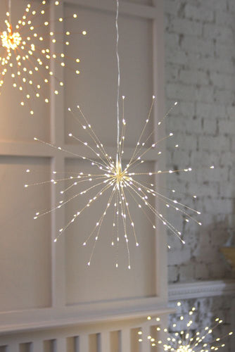 Silver Starburst Lights Small
