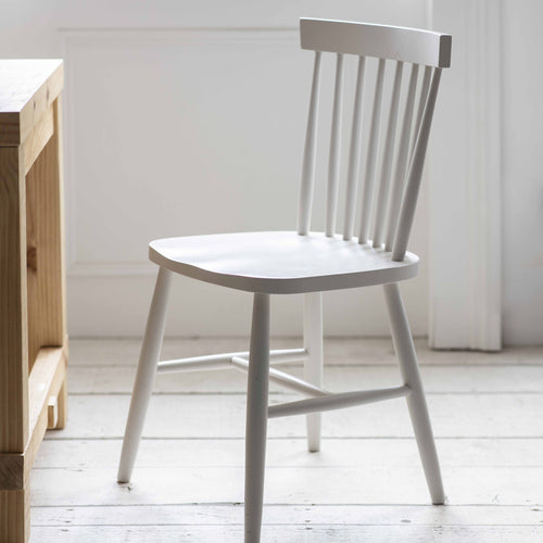 Spindle Back Chair White
