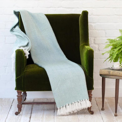 Weaver Green Throws Diamond Teal