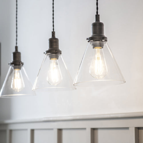 Trio of Hoxton Cone Pendant Lights