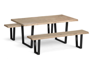 Industrial Style Dining Bench 180cm