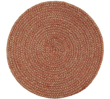 Set of 4 Jute Placemats Brick red