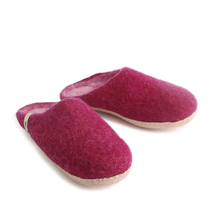 Egos Felted Wool Slippers Cerise