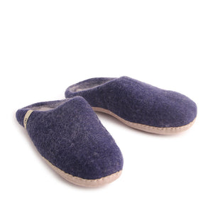 Egos Felted Wool Slippers Blue.
