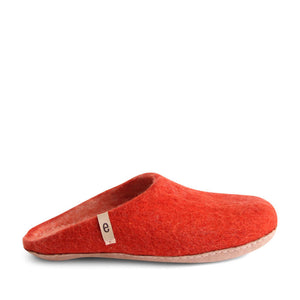 Egos Felted Wool Slippers Red