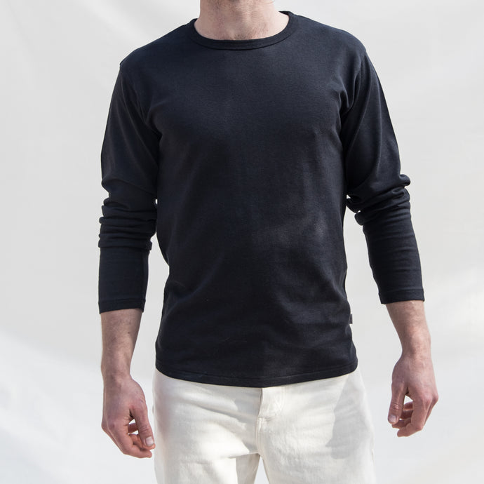 S11 Long Sleeve Hemp Tee - Black