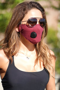Waterproof Anti Dust Mask with Disposable Mask Filter - Red