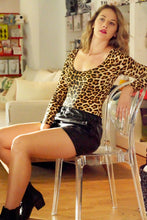 Load image into Gallery viewer, Leopard Print Form Fitting Bodysuit