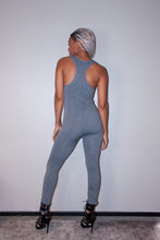 Load image into Gallery viewer, Basic Grey Form-fitting Unitard Bodysuit