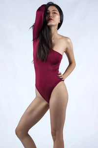 One shoulder Form-fitted Bodysuit
