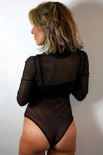 Load image into Gallery viewer, High Neck Fitted Mesh Bodysuit
