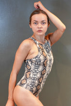 Load image into Gallery viewer, Snakeskin Halterneck Bodysuit