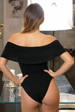 Load image into Gallery viewer, Foldover Off Shoulder Ribbed Bodysuit
