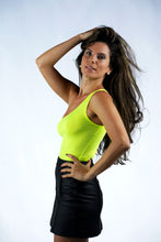Load image into Gallery viewer, Neon Yellow One Shoulder Bodysuit